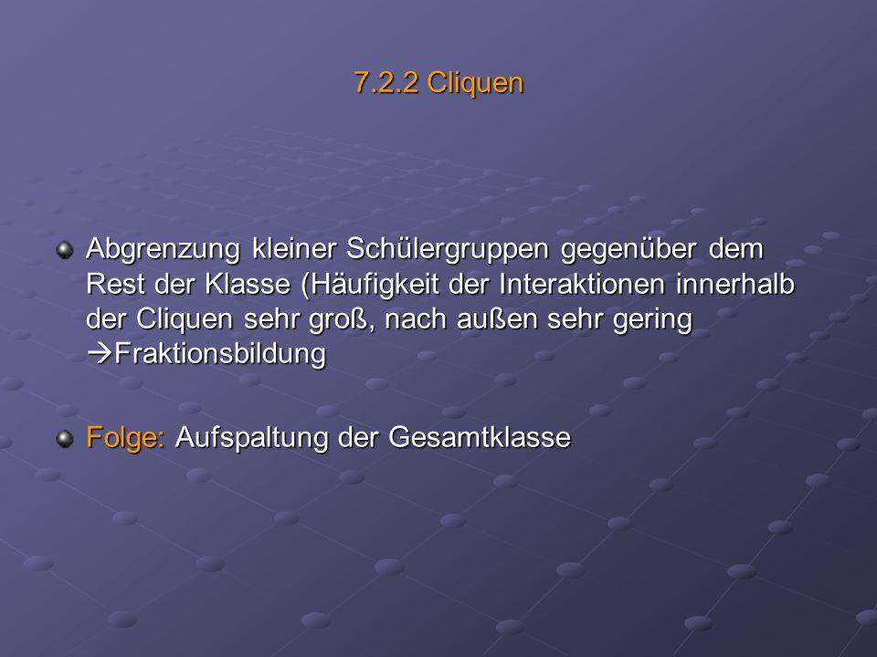 7.2.2 Cliquen