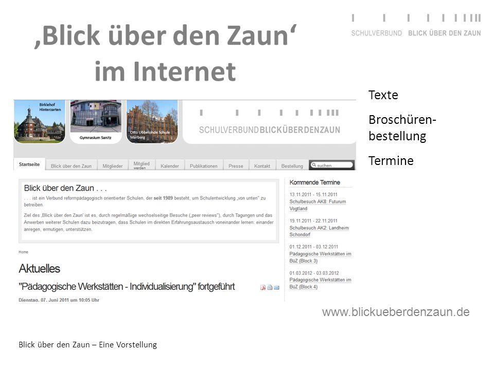 'Blick über den Zaun' im Internet