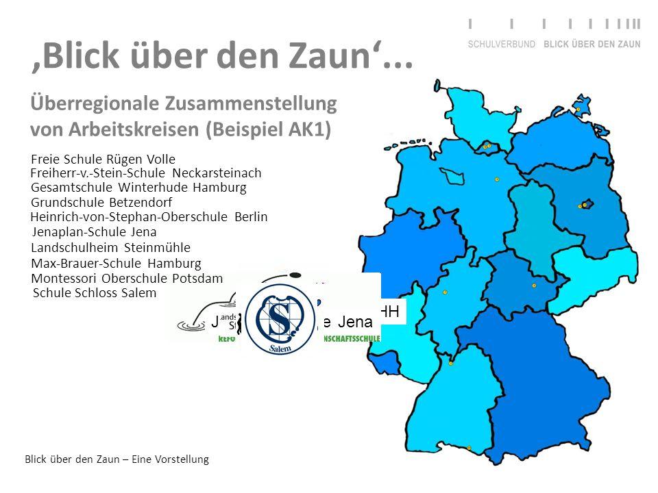 'Blick über den Zaun'... Überregionale Zusammenstellung von Arbeitskreisen (Beispiel AK1) Freie Schule Rügen Volle.
