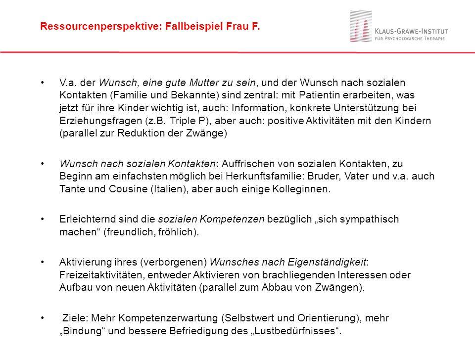 Ressourcenperspektive: Fallbeispiel Frau F.