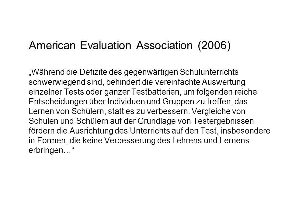 American Evaluation Association (2006)