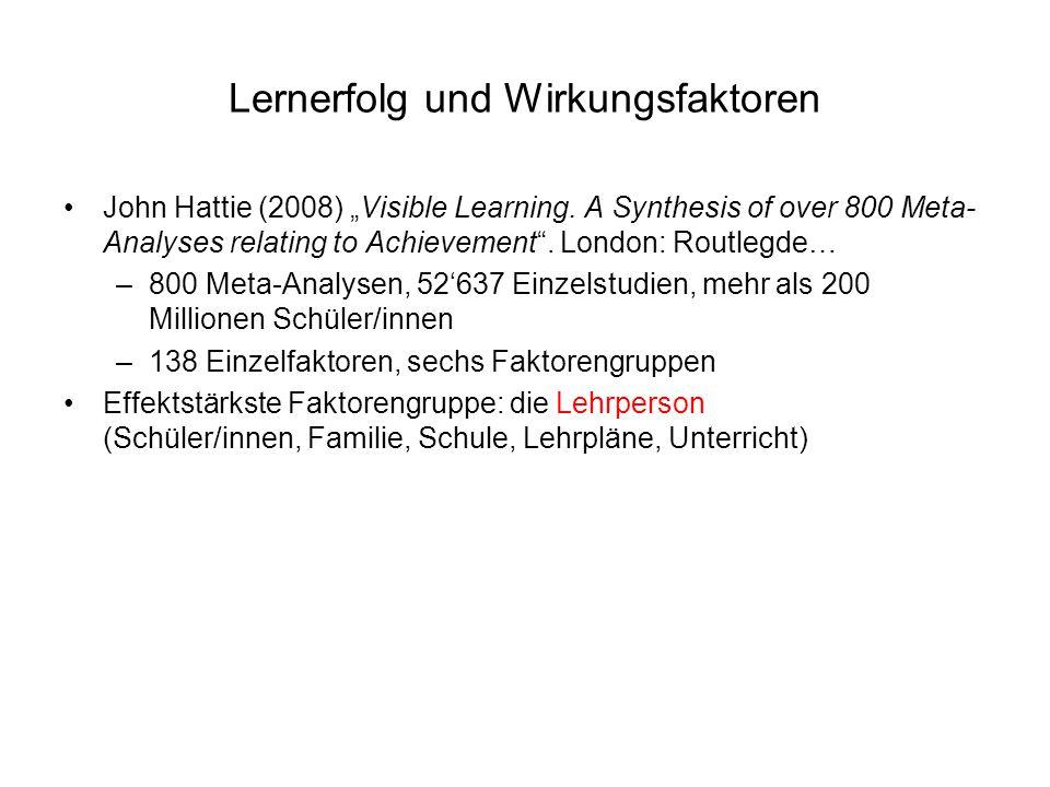 Lernerfolg und Wirkungsfaktoren
