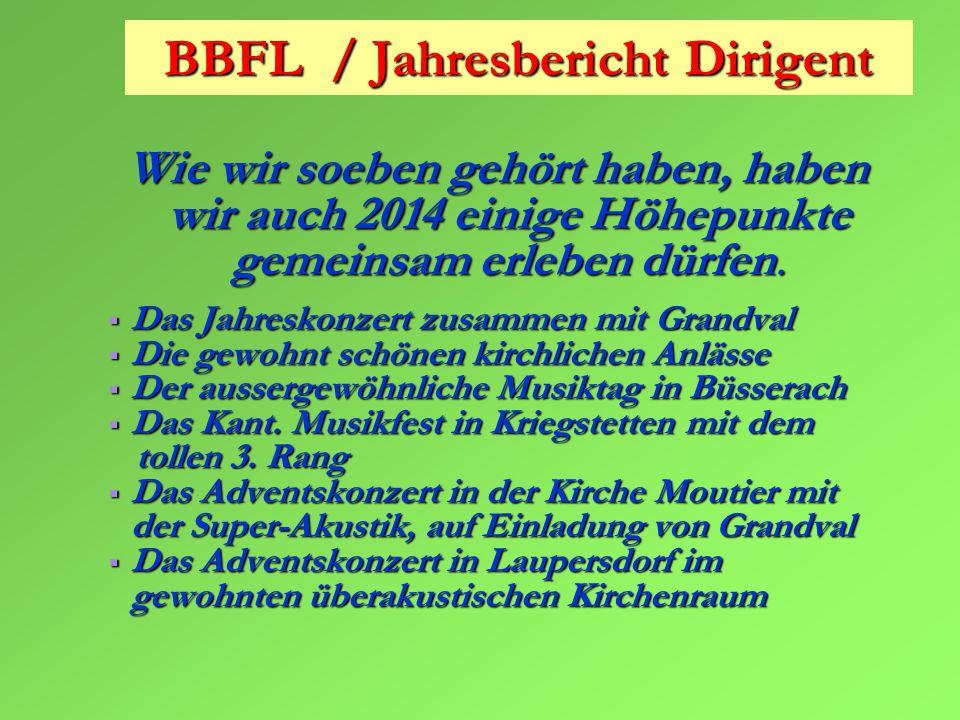 BBFL / Jahresbericht Dirigent