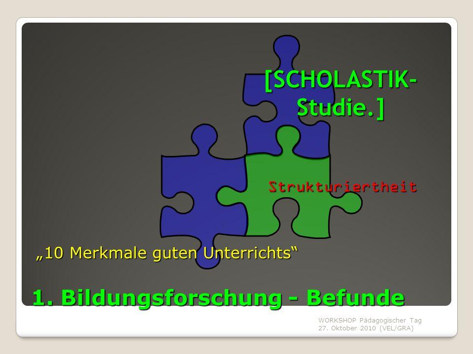 1. Bildungsforschung - Befunde
