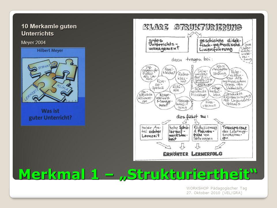 """Merkmal 1 – """"Strukturiertheit"""