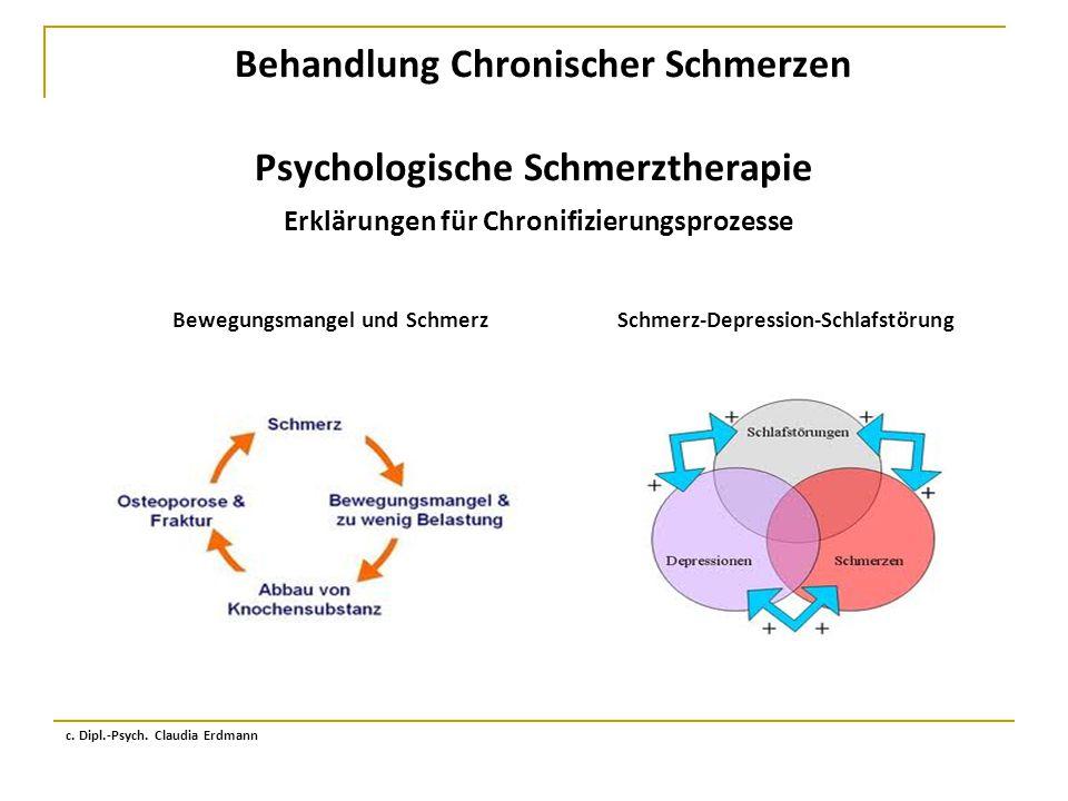 Behandlung Chronischer Schmerzen Psychologische Schmerztherapie Erklärungen für Chronifizierungsprozesse