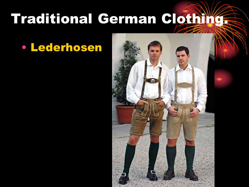 Traditional German Clothing.