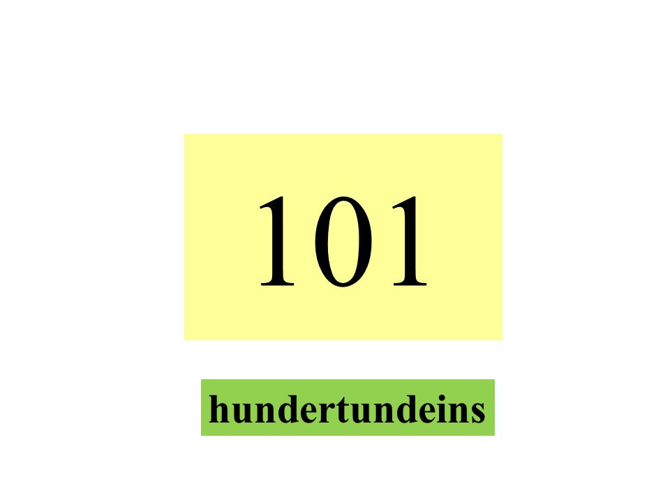 101 hundertundeins