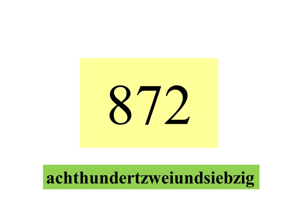 872 achthundertzweiundsiebzig