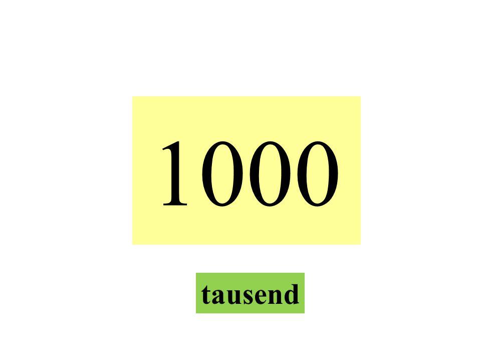 1000 tausend