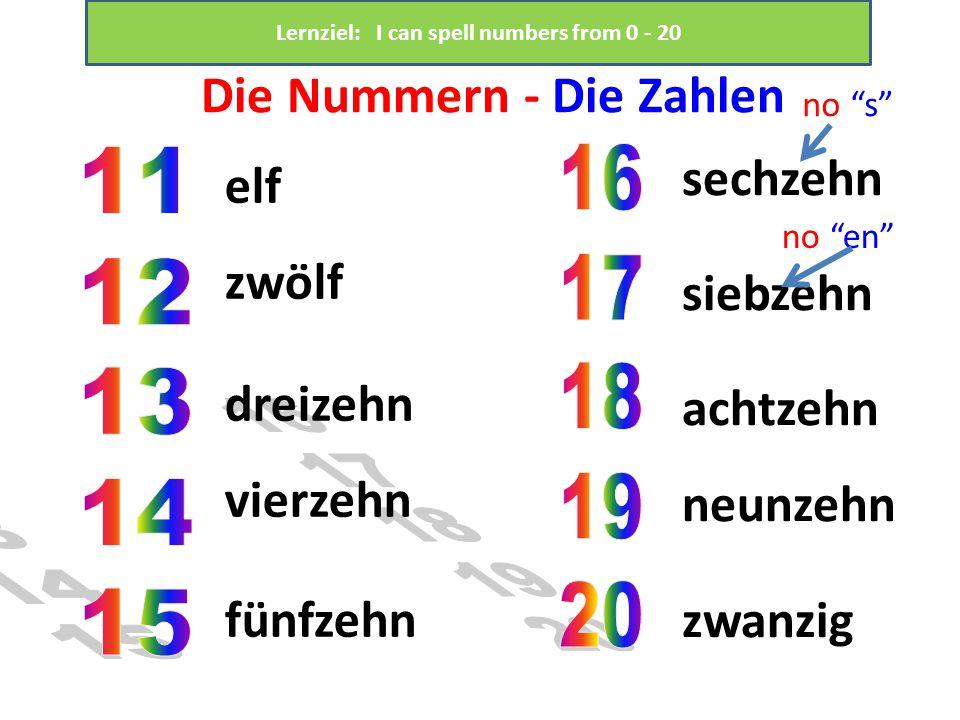 Die Nummern - Die Zahlen