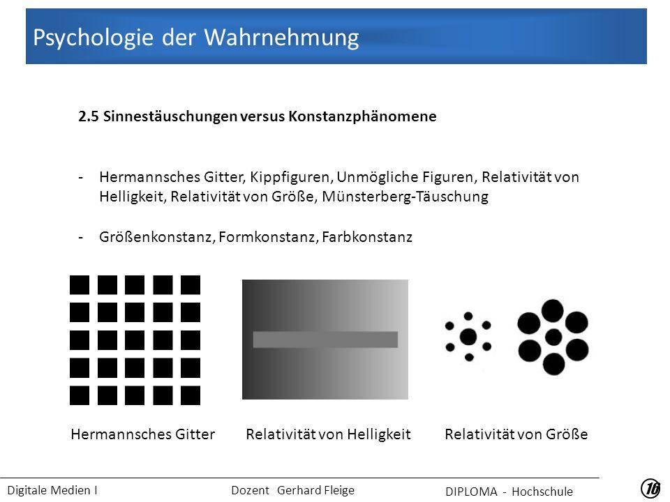 Psychologie der Wahrnehmung