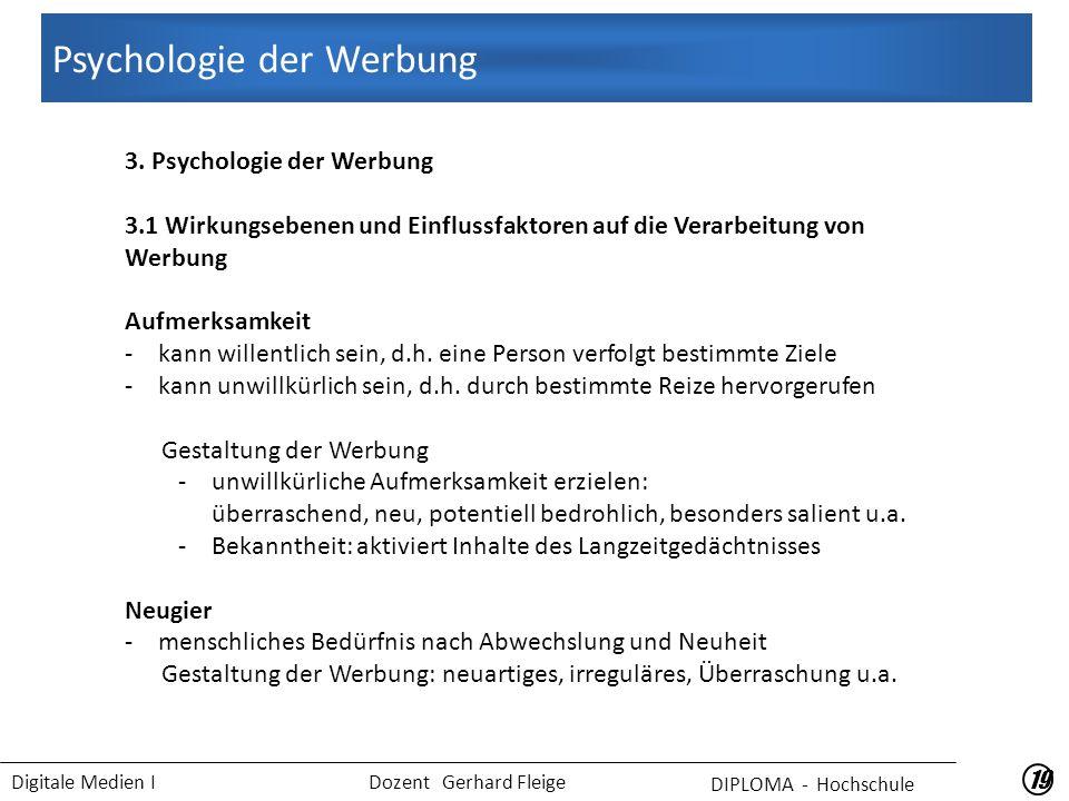Psychologie der Werbung