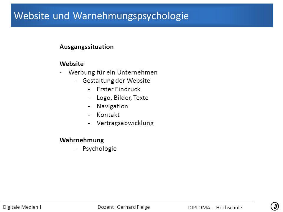 Website und Warnehmungspsychologie