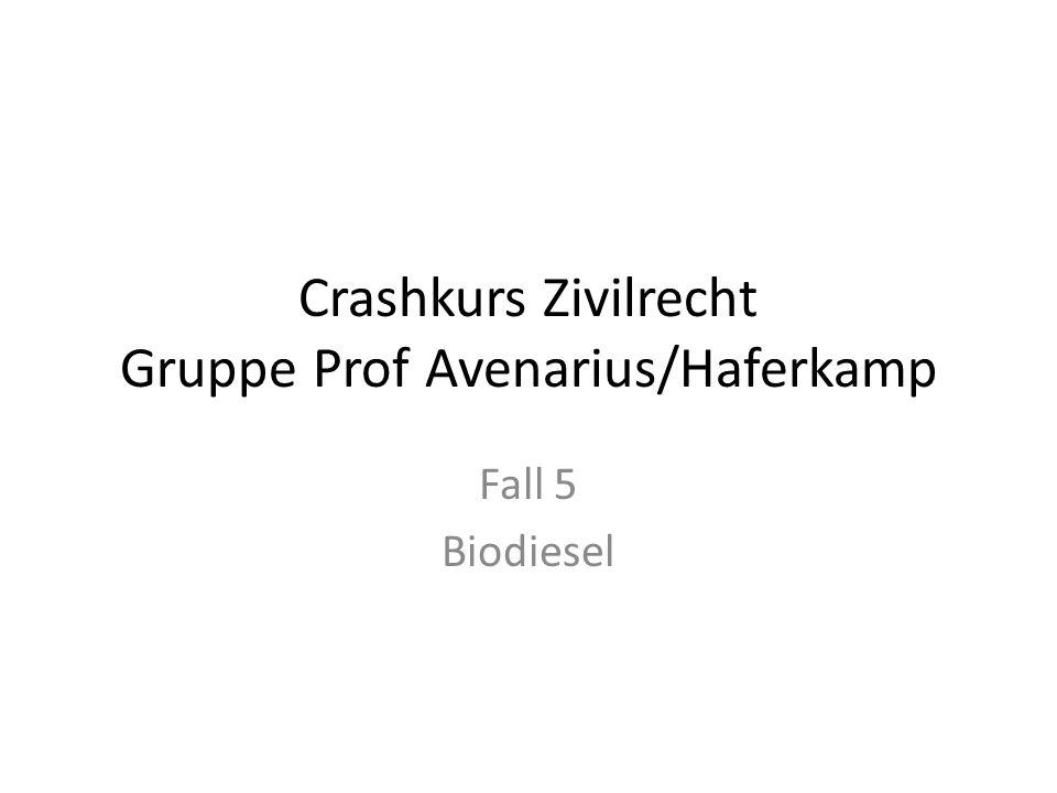 Crashkurs Zivilrecht Gruppe Prof Avenarius/Haferkamp