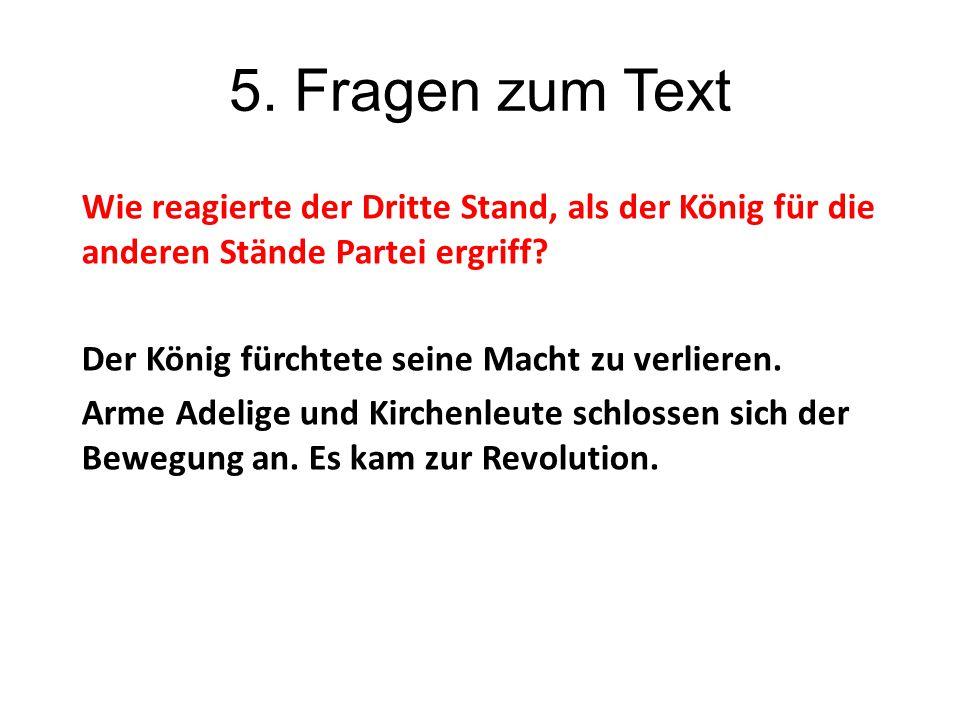 5. Fragen zum Text