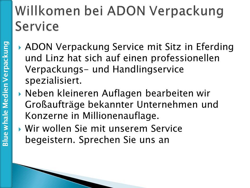 Willkomen bei ADON Verpackung Service