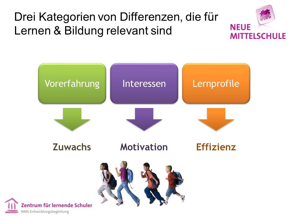 Drei Kategorien von Differenzen, die für Lernen & Bildung relevant sind