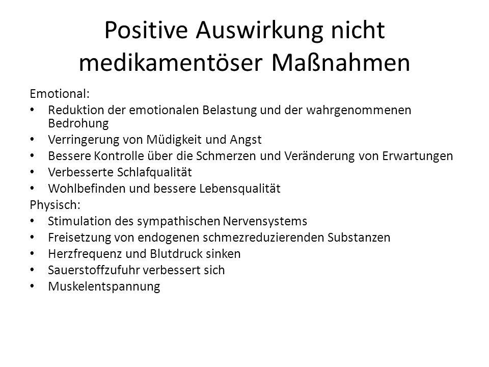 Positive Auswirkung nicht medikamentöser Maßnahmen