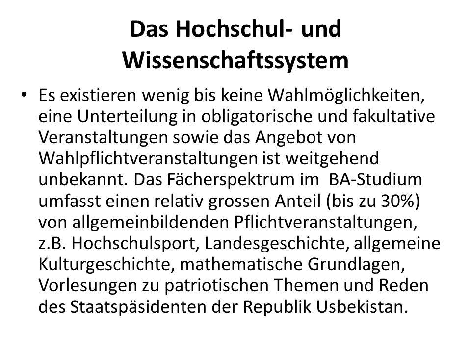 Das Hochschul- und Wissenschaftssystem