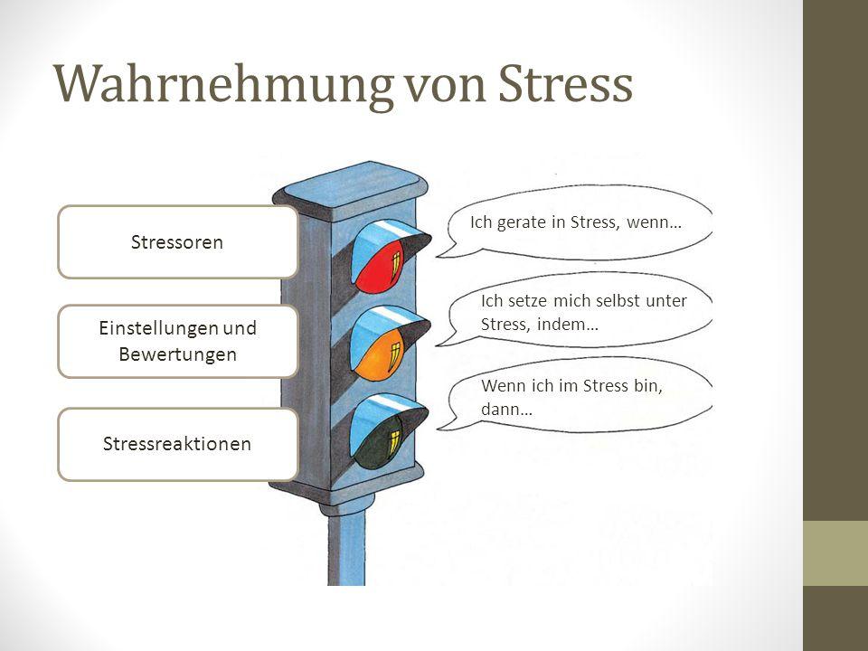Wahrnehmung von Stress