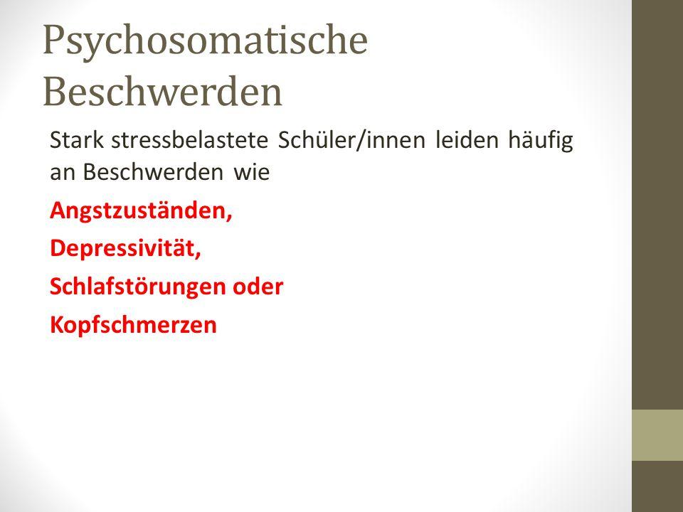 Psychosomatische Beschwerden