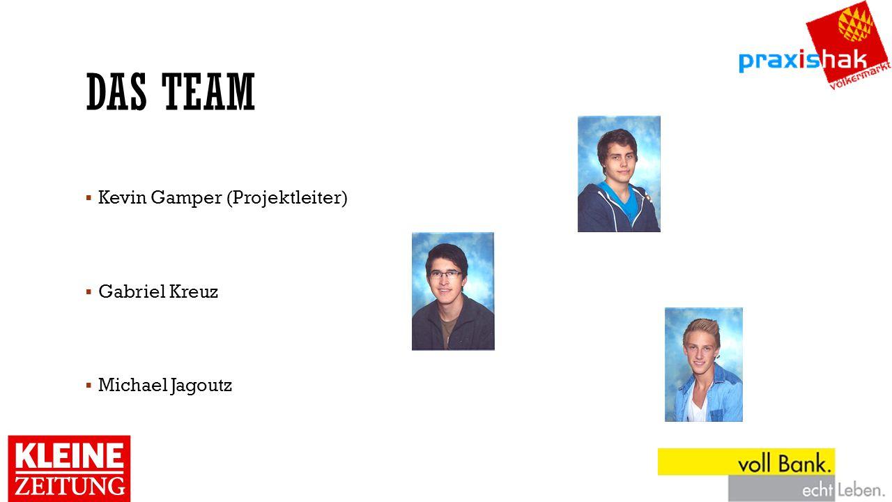 Das team Kevin Gamper (Projektleiter) Gabriel Kreuz Michael Jagoutz