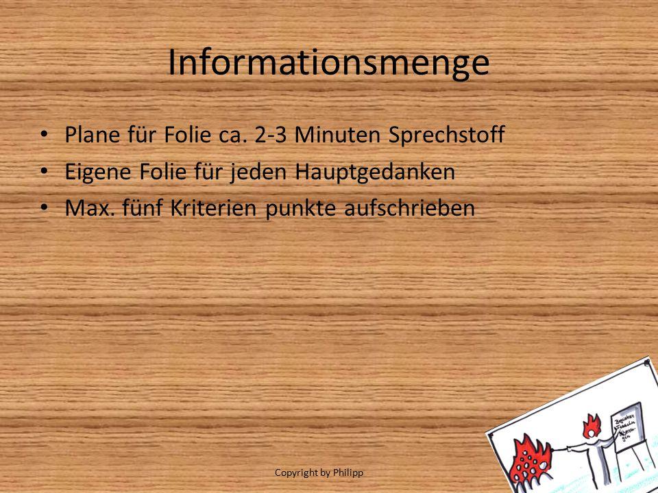 Informationsmenge Plane für Folie ca. 2-3 Minuten Sprechstoff
