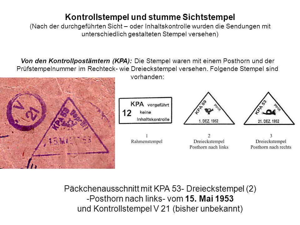 Päckchenausschnitt mit KPA 53- Dreieckstempel (2)