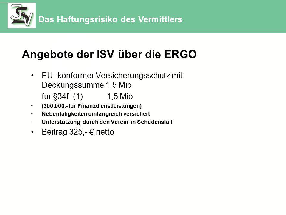 Angebote der ISV über die ERGO