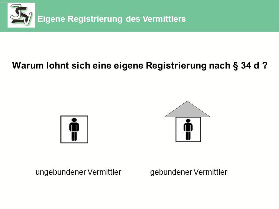 Warum lohnt sich eine eigene Registrierung nach § 34 d