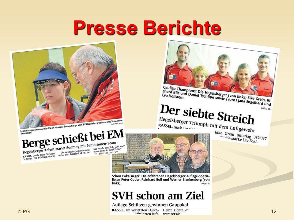 Presse Berichte © PG www.sv-hegelsberg-vellmar.de