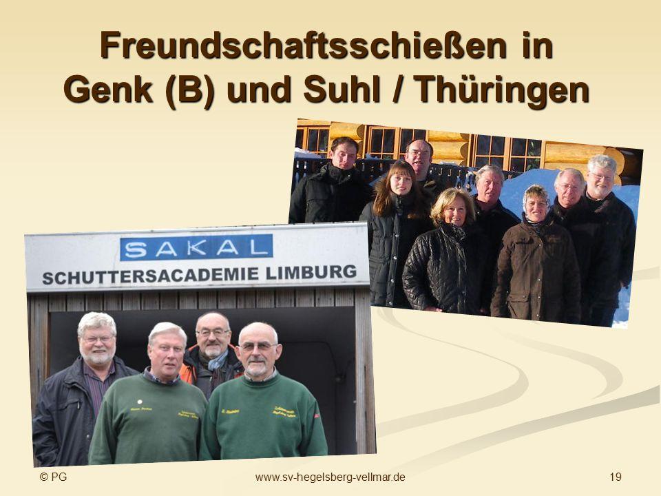 Freundschaftsschießen in Genk (B) und Suhl / Thüringen