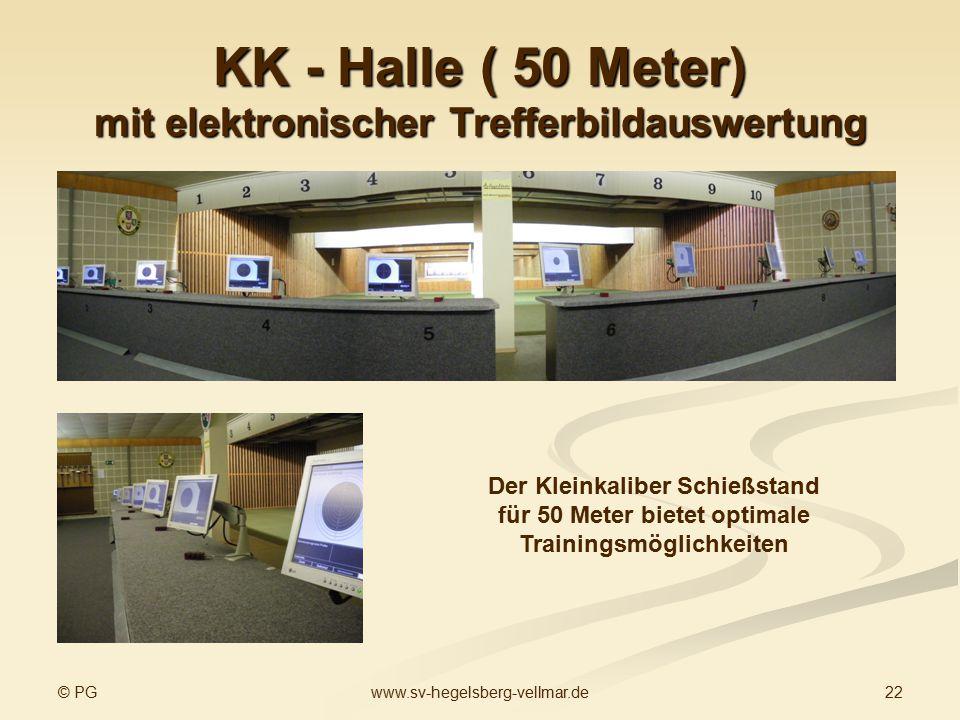 KK - Halle ( 50 Meter) mit elektronischer Trefferbildauswertung