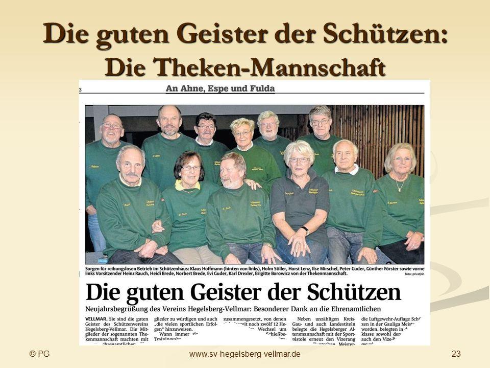 Die guten Geister der Schützen: Die Theken-Mannschaft