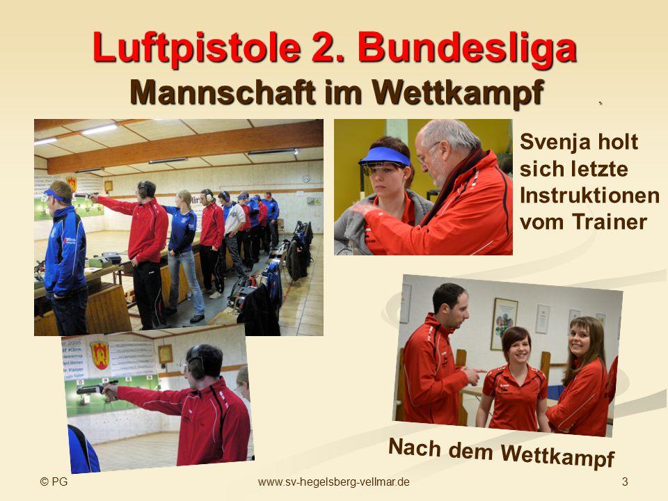 Luftpistole 2. Bundesliga Mannschaft im Wettkampf .
