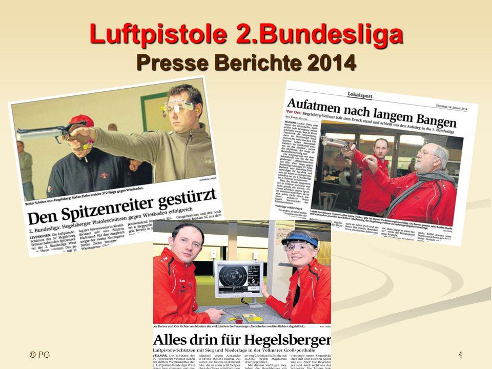 Luftpistole 2.Bundesliga Presse Berichte 2014