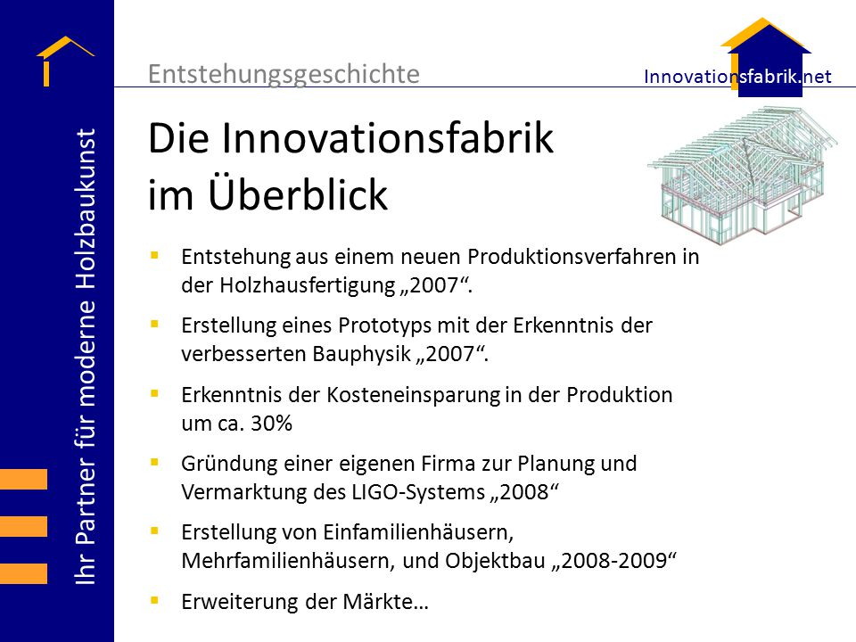 Die Innovationsfabrik im Überblick
