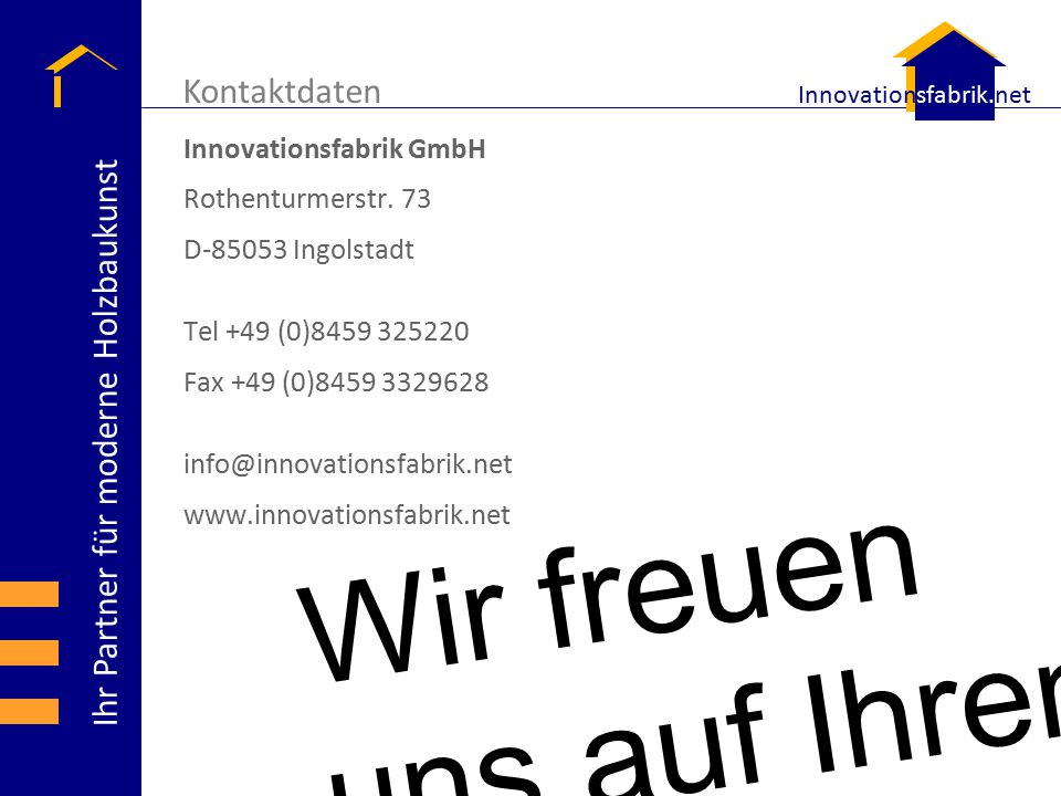 Kontaktdaten Innovationsfabrik GmbH Rothenturmerstr. 73