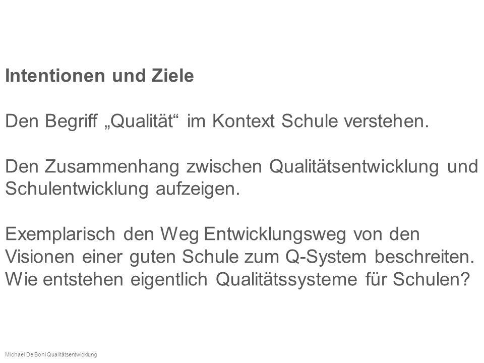 """Den Begriff """"Qualität im Kontext Schule verstehen."""