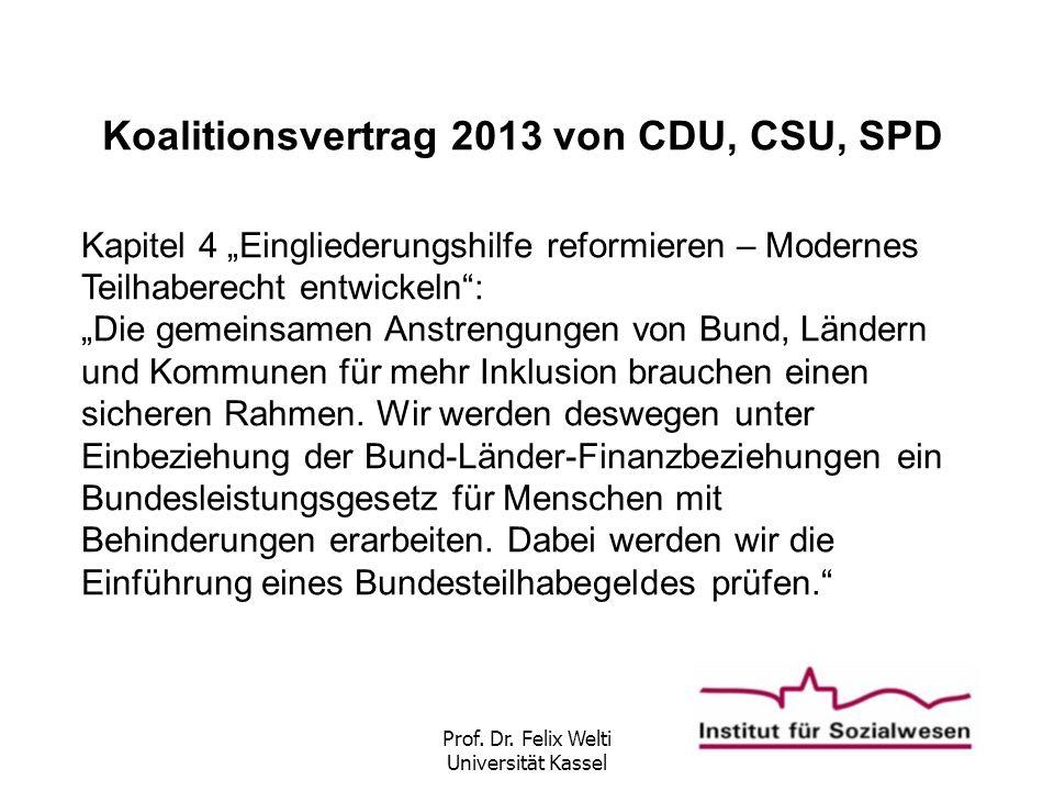 Koalitionsvertrag 2013 von CDU, CSU, SPD