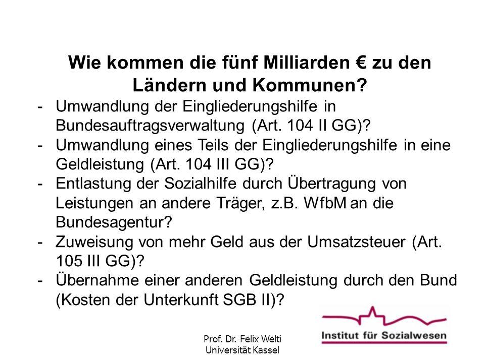 Wie kommen die fünf Milliarden € zu den Ländern und Kommunen