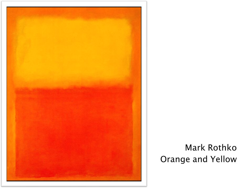 Mark Rothko Orange and Yellow