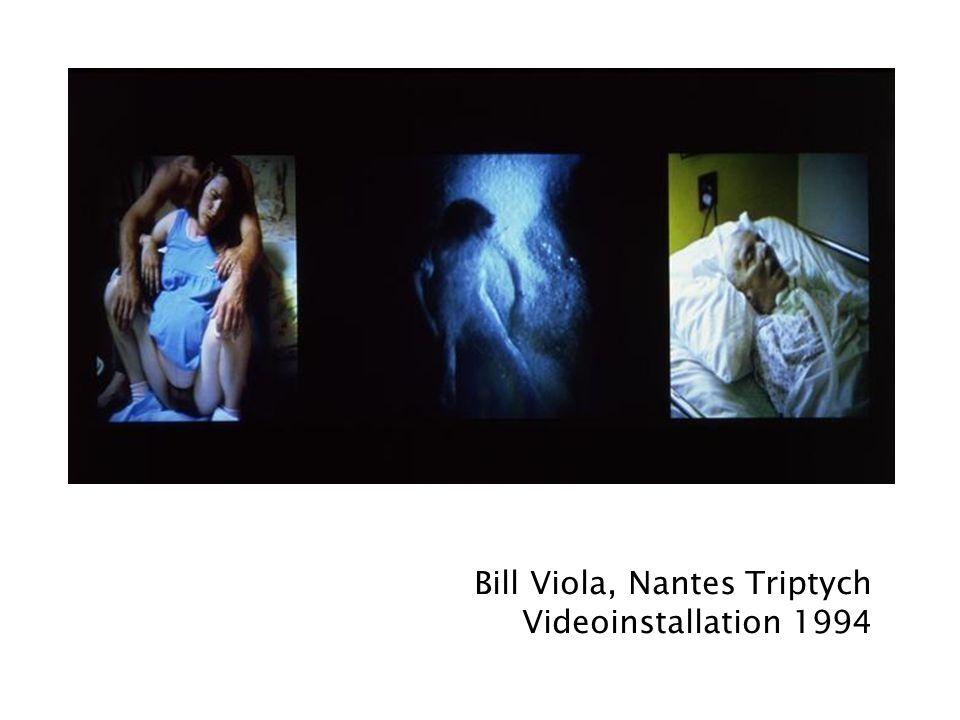 Bill Viola, Nantes Triptych Videoinstallation 1994