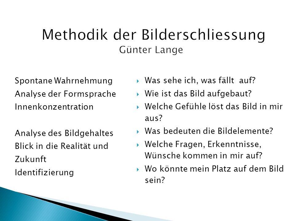 Methodik der Bilderschliessung Günter Lange