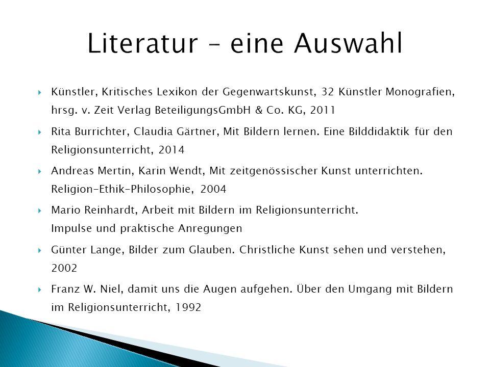 Literatur – eine Auswahl