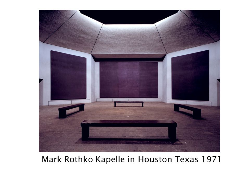 Mark Rothko Kapelle in Houston Texas 1971