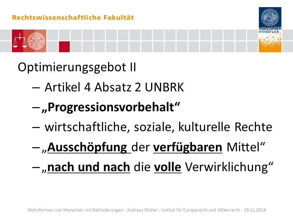 """""""Progressionsvorbehalt wirtschaftliche, soziale, kulturelle Rechte"""