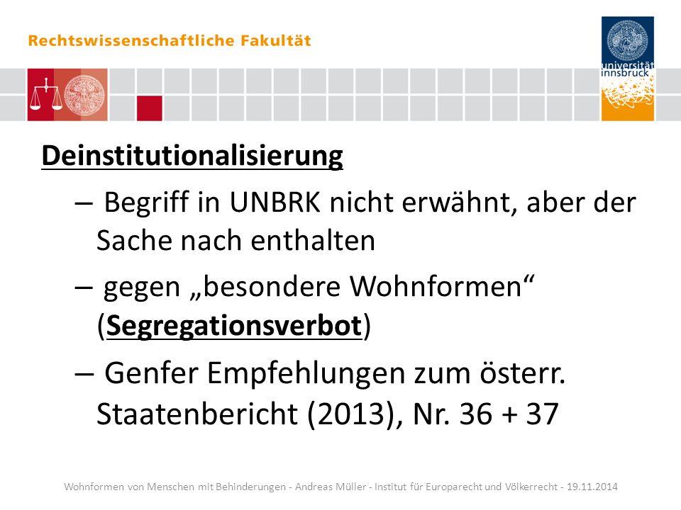 Genfer Empfehlungen zum österr. Staatenbericht (2013), Nr. 36 + 37