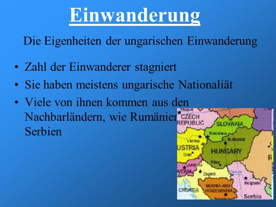 Die Eigenheiten der ungarischen Einwanderung